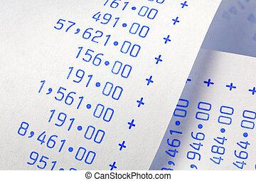 numbers., computational, peso, costi, zebrato, spese, introiti