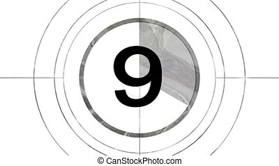 numbers countdown for television film, or business