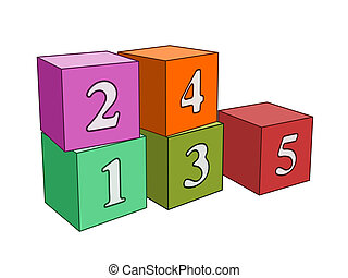 numbers cubes
