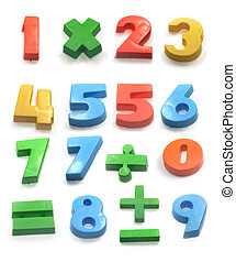 Numbers - Fridge magnet numbers and maths symbols