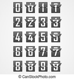 Numbers from Mechanical Scoreboard Alphabet