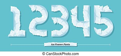Numbers Ice Frozen style in a set 12345