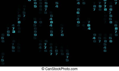numbers  in matrix