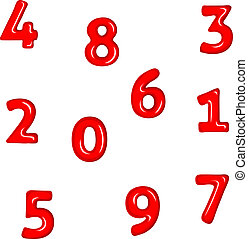 Numbers In Red
