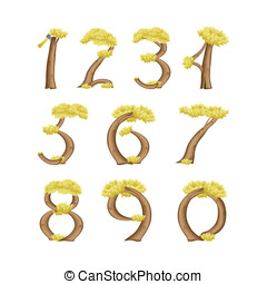 Numbers in the form of a tree