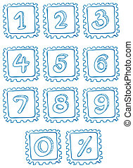 Numbers inside the squares