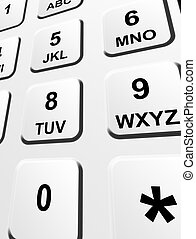 Keypad With Numbers And Letters Keypad Photographed From Above With