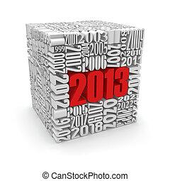 numbers., nouveau, construit, 2013.cube, année