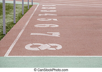 Numbers of a running track