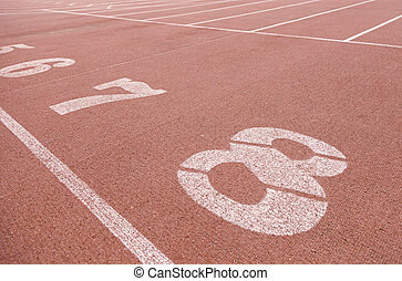 Numbers on a running track