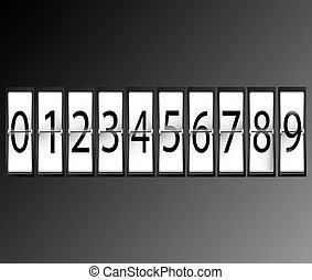 numbers on Airport Terminal timetab
