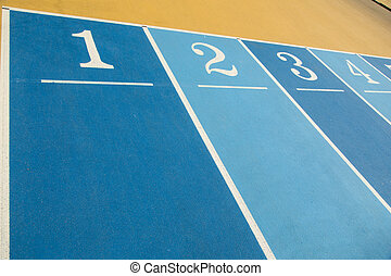 Numbers on running Field