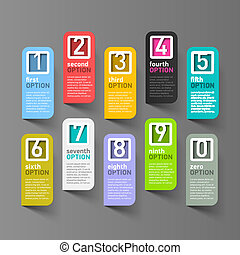 Numbers options infographic elements