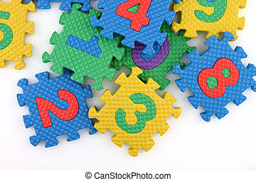 Numbers puzzle scattered