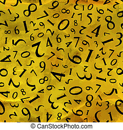 Numbers. Seamless pattern. Vector illustration.