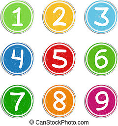 Numbers - Set of hand drawn numbers, vector eps10...