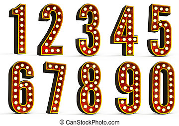 Numbers Set - Set of all ten numbers over white background...