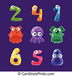 Numbers Shaped Animals And Other Jelly Creatures Set