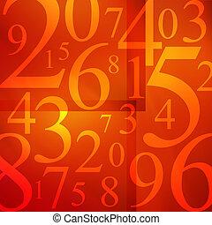Numbers Soup - Numbers arranged randomly.