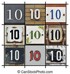 Numbers Ten - Collage of Numbers Ten