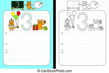 Numbers Tracing Worksheet - Worksheet for practicing number...