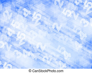 numbrs abstract background