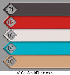 numerado, bandeiras, 3d