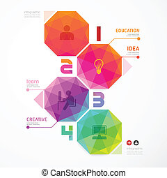 numerado, ser, utilizado, colorido, moderno, /, diseño,...