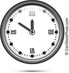 numerais, romana, relógio