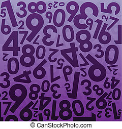 numeral background - illustration of background with numbers