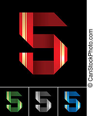 Numeral of paper tape - 5
