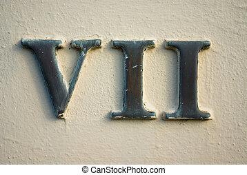 numeral roman, vii