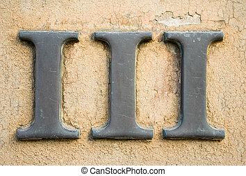 numeral, romana, iii