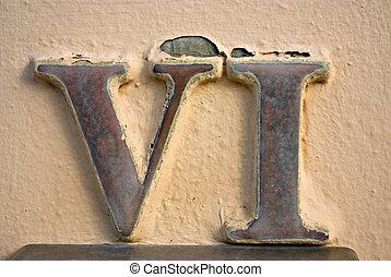 numeral, romana, vi