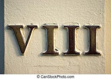 numeral, romana, viii