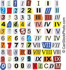 Numerals, Arabic And Roman