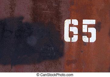 numerals on grunge background