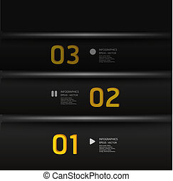 numerato, essere, grafico, usato, disposizione, moderno, linee, orizzontale, /, sito web, bandiere, vettore, disegno, lattina, sagoma, infographics, disinserimento, o
