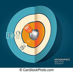 numerato, essere, usato, disposizione, bandiere, moderno, linee, orizzontale, /, sito web, vector/horizontal, disegno, lattina, sagoma, infographics, disinserimento, o