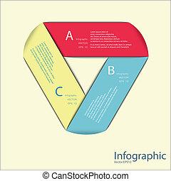 numerato, essere, usato, disposizione, orizzontale, 10, format., moderno, eps, /, o, sito web, vettore, disegno, lattina, sagoma, infographics, bandiere, cutou