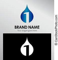 numere um, 1, modelo, logotipo, ícone