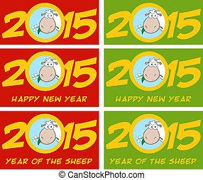 numeri, anno, sheep, 2015