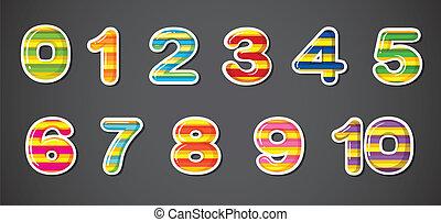 numeri, colorito
