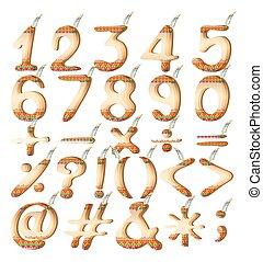 Numeric figures in Indian artwork