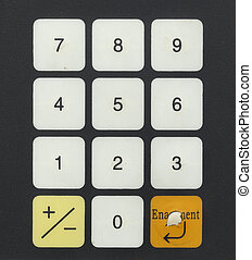 numeric keyboard of computer machine control