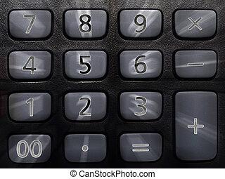 numeric keyboard on calculator - Numeric keyboard on...