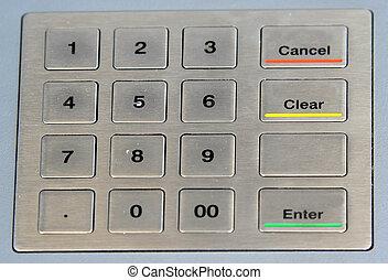 numeric keypad - numeric atm keypad with coloured keys