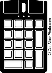 Numeric keypad with a mouse