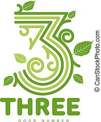 numeric logo three