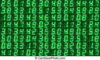numeriek, digitale tentoonstelling, gemaakt, van, een, geleide, klok, toonbank